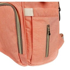 Mommy Bag. Сумка-рюкзак для мамы, персик вид 8