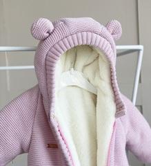 Утепленный комбинезон Мишутка на махре (розовый)