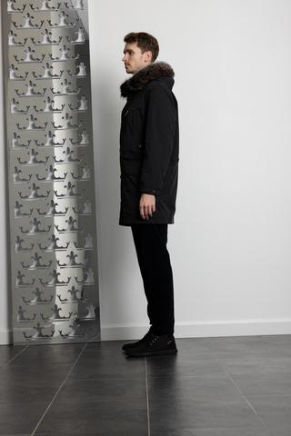 DIEGO M Куртка со съемным подкладом из натурального меха