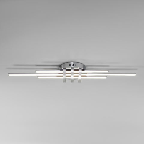 Потолочный светодиодный светильник с пультом управления 90243/3 хром