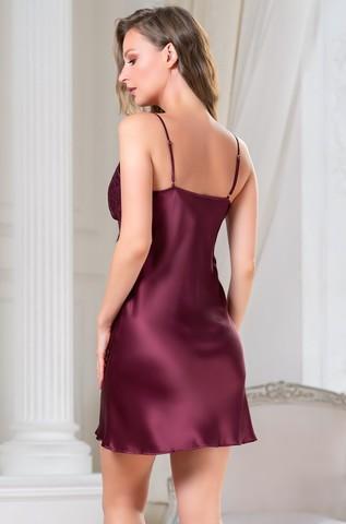 Сорочка женская шелковая MIA-Amore SHARON  ШЕРОН 3800 бордо