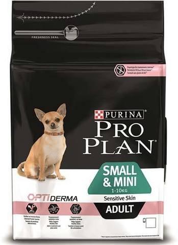 7 кг. PURINA PRO PLAN Сухой корм для взрослых собак мелких и карликовых пород с чувствительной кожей с лососем Adult Small&Mini Sensitive Skin