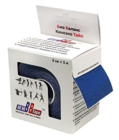 BBtape кинезио тейп 5см х 5м (синий)