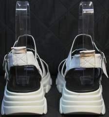 Ugly сандалии на массивной подошве женские Evromoda 3078-107 Sport White