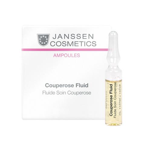 Сосудоукрепляющий концентрат для кожи с куперозом (в ампулах) Couperose Fluid, Sensitive skin, Janssen Cosmetics, 2 мл