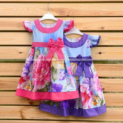 Платье хлопок девочке (2-6) 210302-OF7590