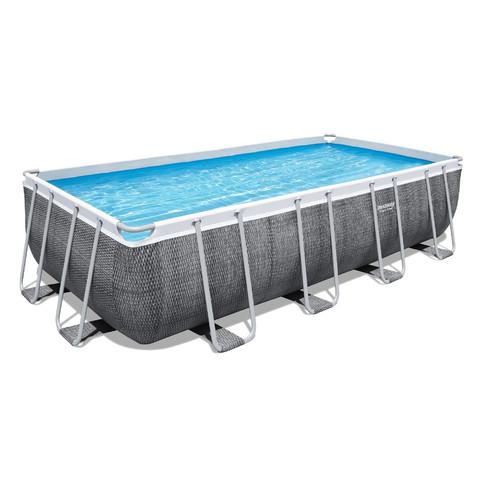 Каркасный бассейн Bestway 56998 (549х274х122 см) с картриджным фильтром, лестницей и защитным тентом / 22704