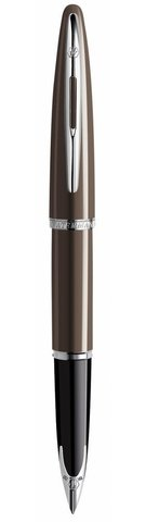 Перьевая ручка Waterman Carene, цвет: Frosty Brown Lacquer ST, перо: F