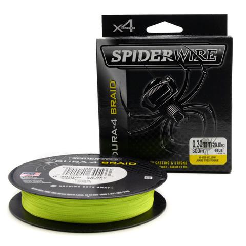 Плетеная леска Spiderwire Dura4 Braid Ярко-желтая 0,30 мм. 300 м. Yel (1450419)
