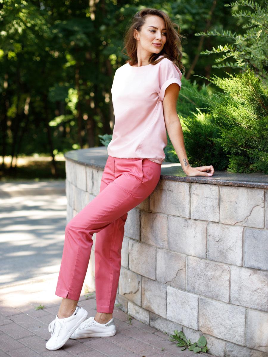 Блуза модная медицинская Бл-1019 MediS.moda цвет зефир