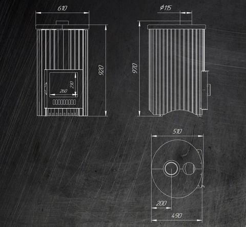 Дровяная банная печь Ферингер УЮТ-25
