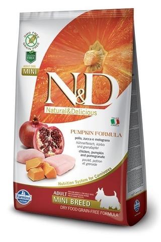 Сухой беззерновой корм Farmina N&D Grain Free Pumpkin Chicken & Pomegranate Adult Dog Mini