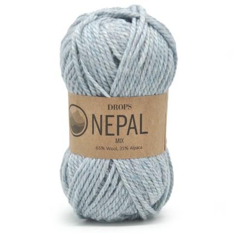 Пряжа Drops Nepal 8907 серо-голубой