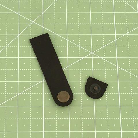 Ремешок для кошелька на кнопке 8 см. (Темно-коричневый)