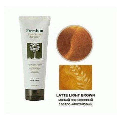 Гель-маникюр для волос (латте) Haken Premium Pearll Pure Gel Color-Latte Light Brown 220гр