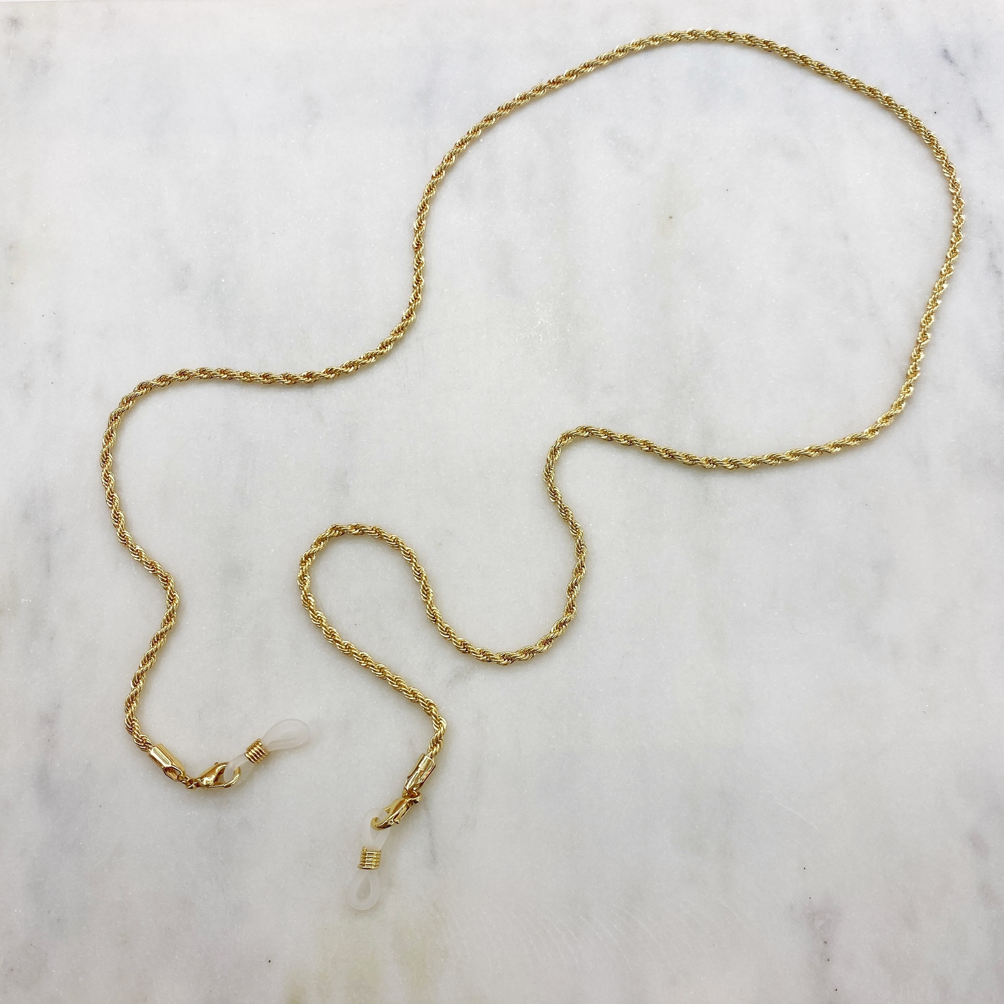 Цепь для очков веревочного плетения (золотистый)