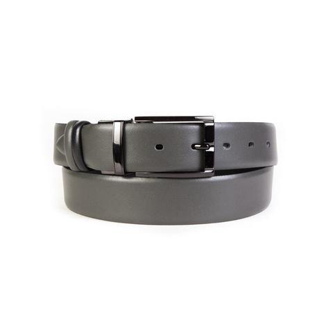 Ремень брючный двухсторонний 35 мм чёрный-серый Doublecity RP35-17-02