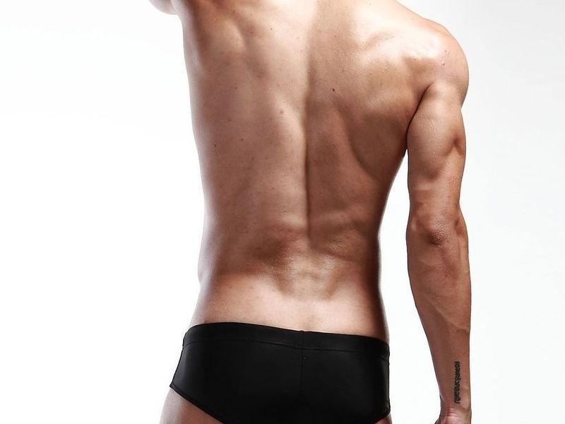 Мужские плавки брифы черные Seobean Black Athletic Brief Boxer