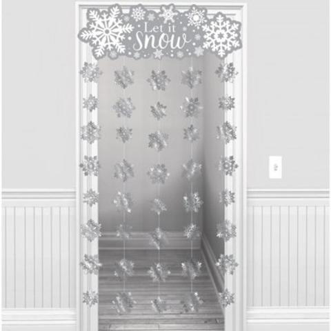 Украшение на дверь Снежинки