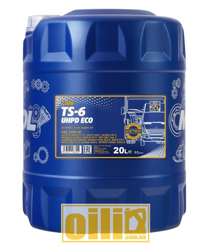 Mannol 7106 TS-6 UHPD Eco 10W-40 20л