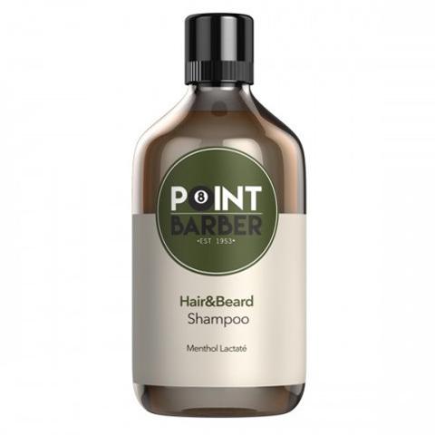 Farmagan Point Barber:  Освежающий шампунь для волос и бороды (Hair & Beard Shampoo), 300мл