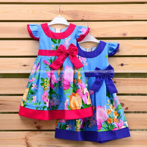 Платье хлопок девочке (2-6) 210302-OF7591
