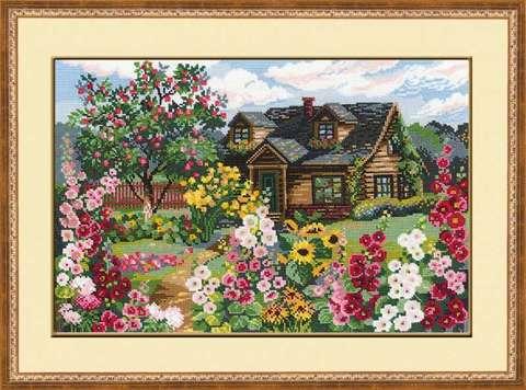 Набор для вышивания крестом «Цветущий сад» (978)