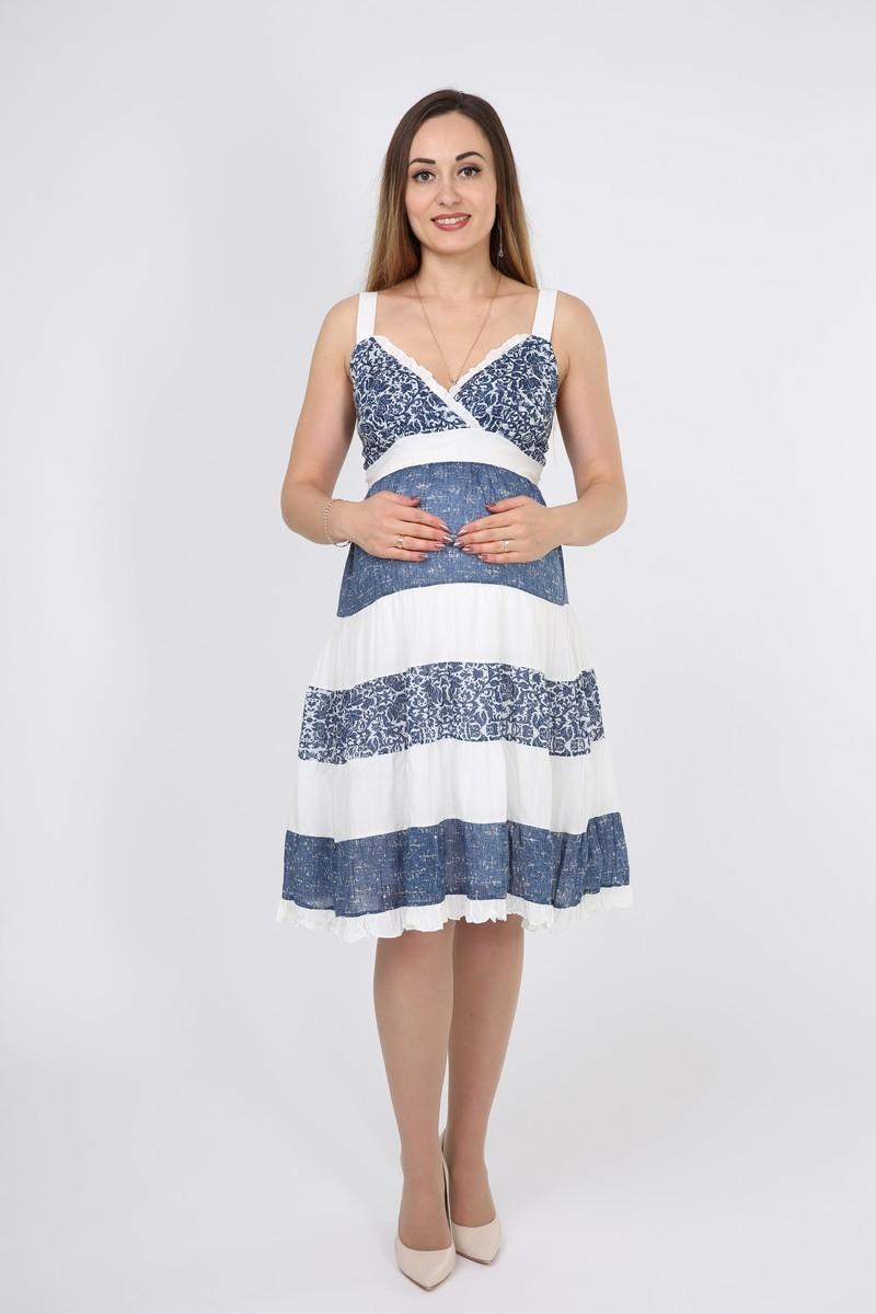 Фото платье для беременных GEMKO, летний сарафан от магазина СкороМама, цветной, размеры.