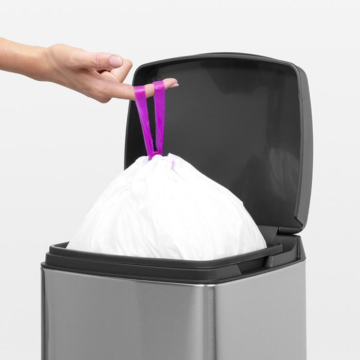 Прямоугольный мусорный бак  (10л), Стальной матовый (FPP), арт. 461804 - фото 1