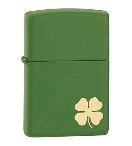 Зажигалка Zippo Shamrock с покрытием Moss Green Matte, латунь/сталь, зелёная, матовая123