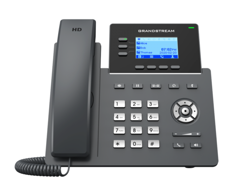 Grandstream GRP2603P - IP телефон (PoE, блок питания не входит в комплект). 6 SIP аккаунтов, 3 линии, есть подсветка экрана, (1GbE)Gigabit Ethernet