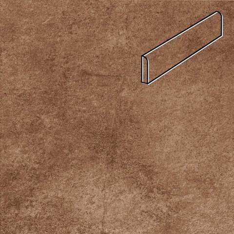 Stroeher - Keraplatte Aera Т 712 marone 294х73х8 артикул 8108 - Клинкерный плинтус
