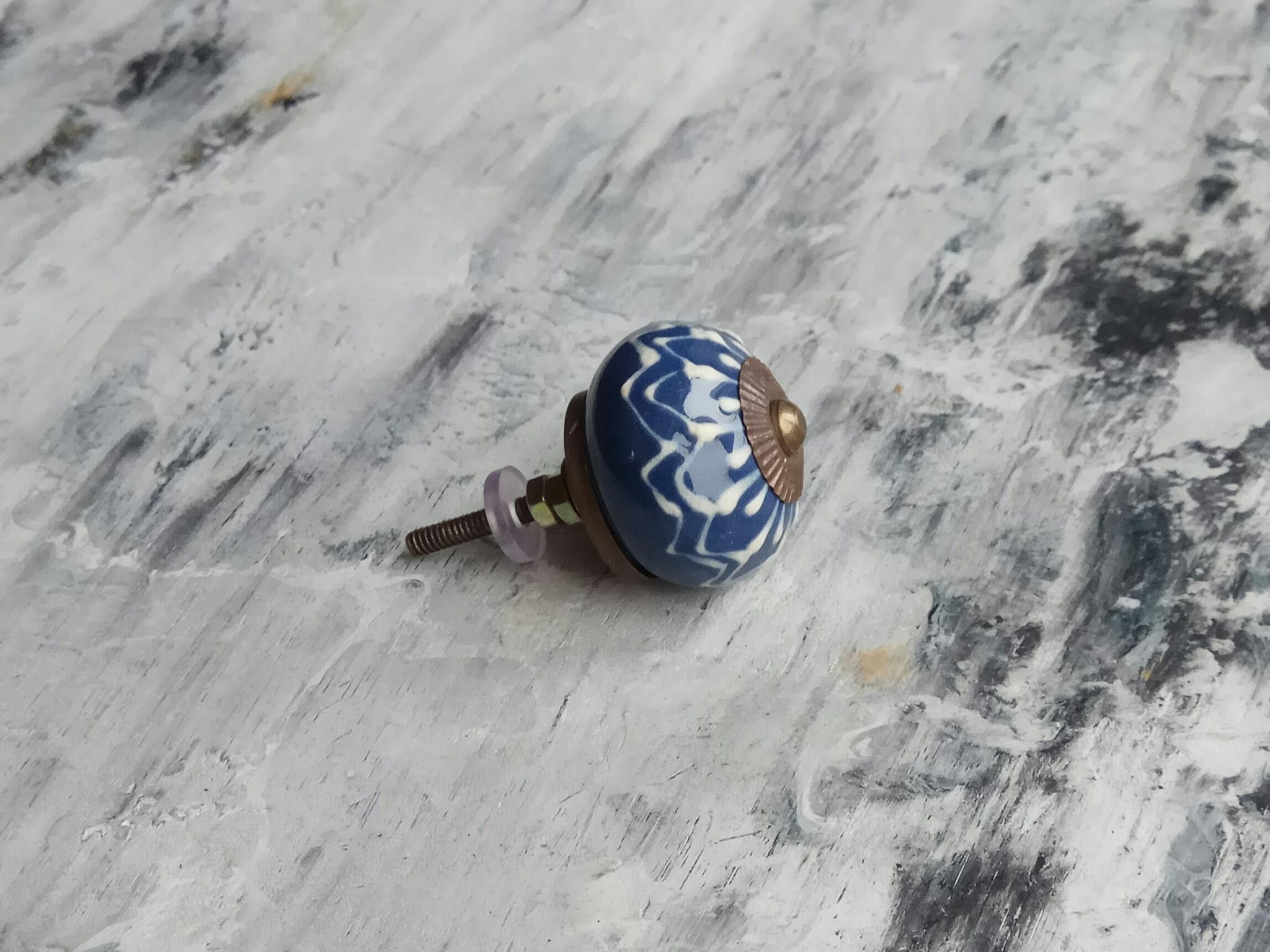 Ручка мебельная керамическая  расписная √40, 00001040