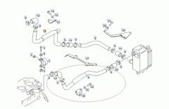 Труба охлаждения ретарды МАН ТГА/ТГС 81063035237