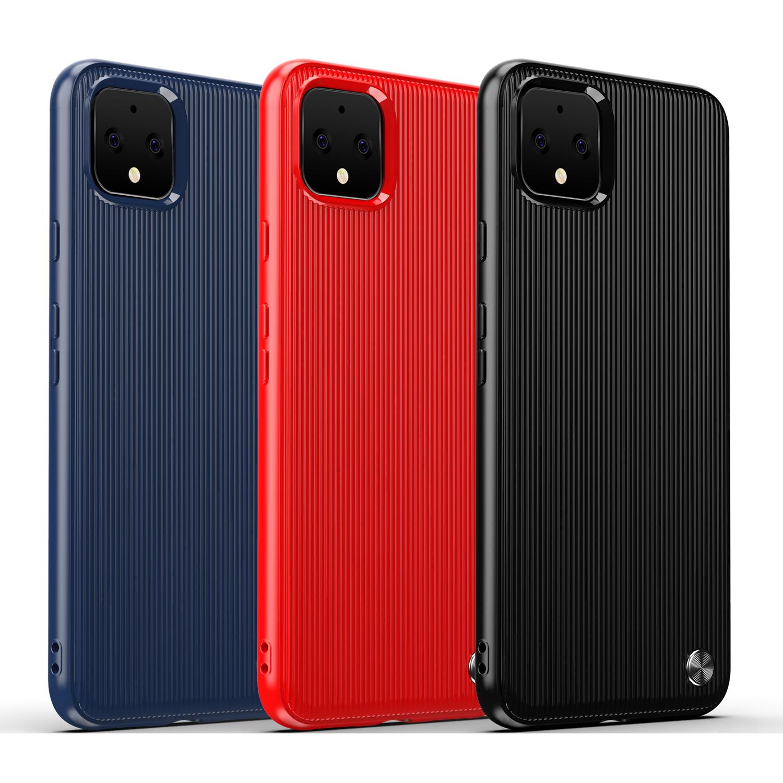 Чехол Google Pixel 4 XL цвет Red (красный), серия Bevel, Caseport