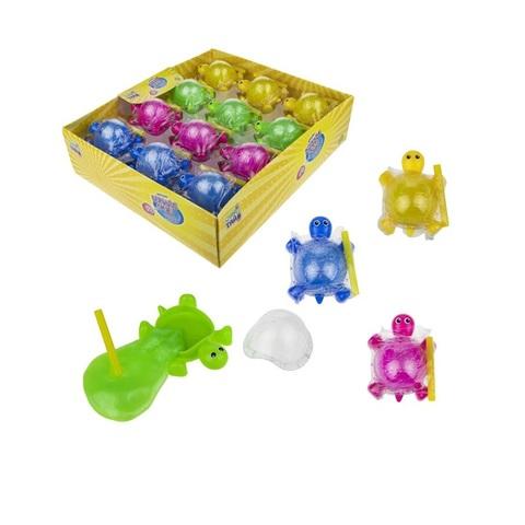 Слайм тайм Мяшка Bubble gum черепашка, 4 цвета, с трубочкой, 5х7см, 1кор*24бл*24 шт.