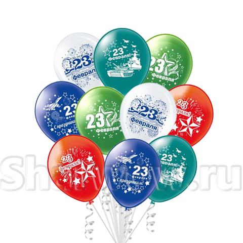 Букет из воздушных шаров на 23 февраля День Защитника Отечества