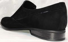 Мужские классические туфли замша Ikoc 3410-7 Black Suede.
