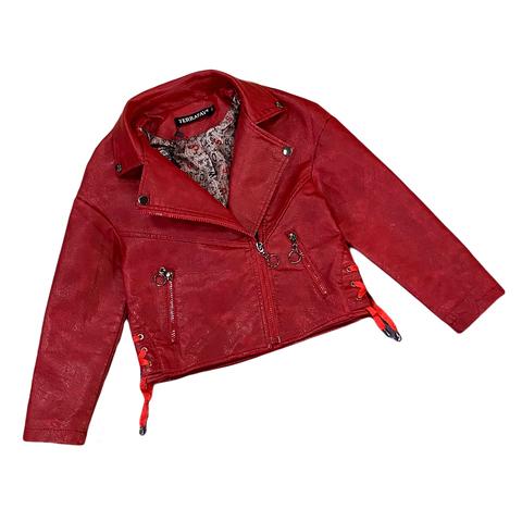 Куртка экокожа девочке (5-9) 210205-J7116