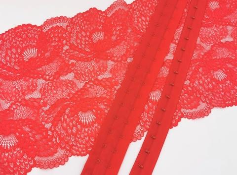 Крючки-петли на ленте, ОПТ,  красные, (Арт: KPL- 100), 5м