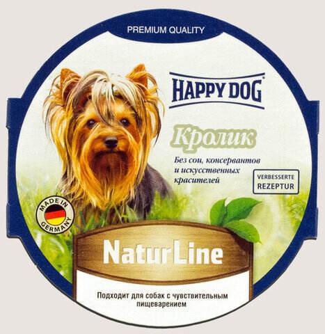 купить Happy Dog NaturLine Кролик влажный паштет (ламистер) для щенков и взрослых собак 1 шт