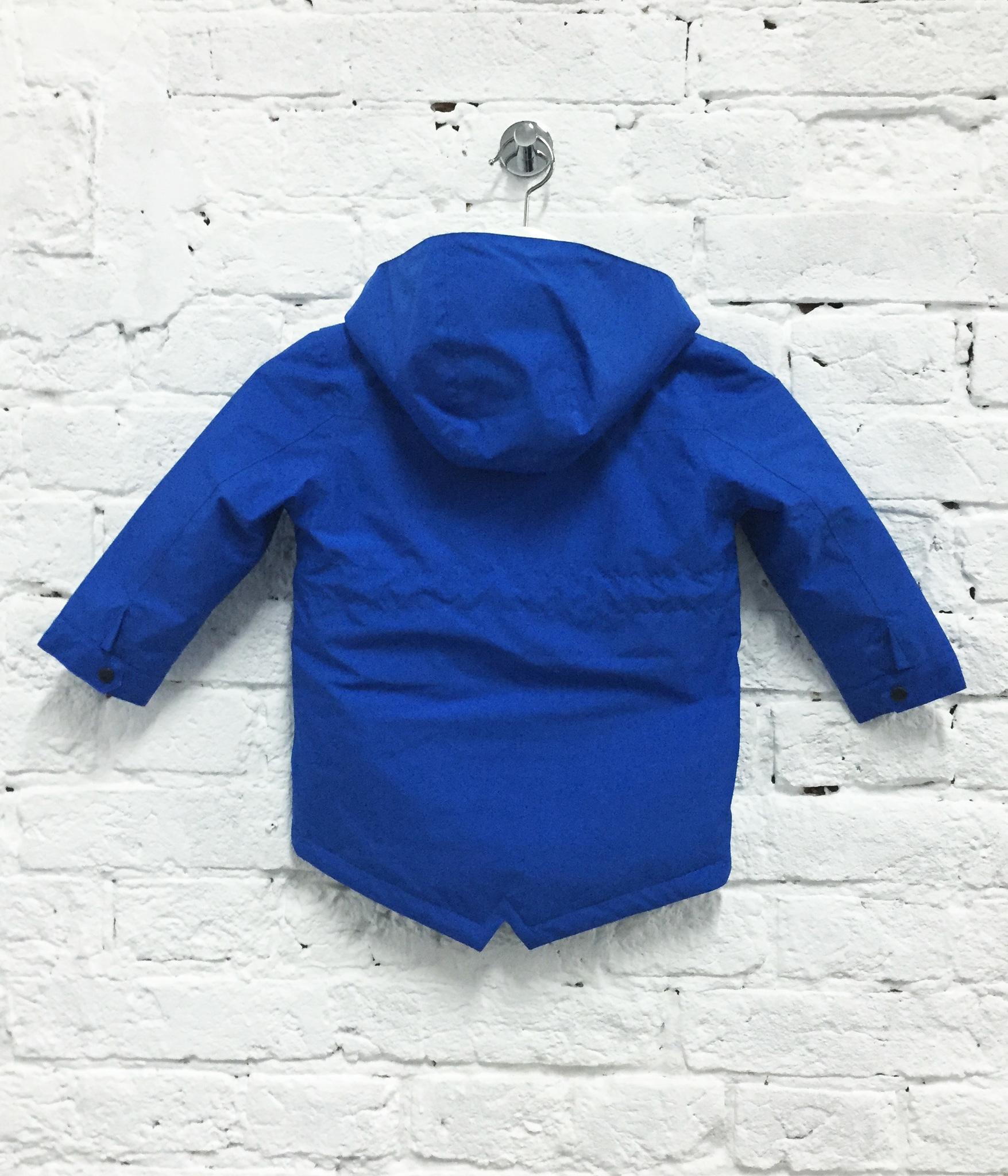 парка куртка детская весенняя теплая SASHA JUNIOR цвет василек синий