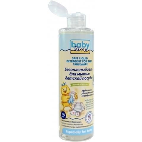 Babyline. Безопасный гель для мытья детской посуды 250 мл