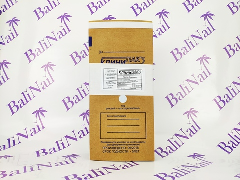 Крафт-пакеты коричневые 100х200 (100 шт)