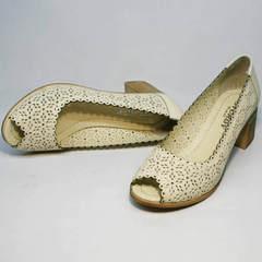 Туфли с открытым носком женские Sturdy Shoes 87-43 24 Lighte Beige.