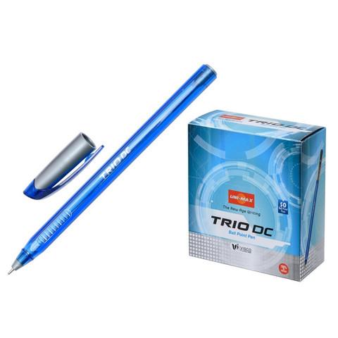 Ручка шариковая одноразовая Unimax Trio DC tinted синяя (толщина линии 0.5 мм)