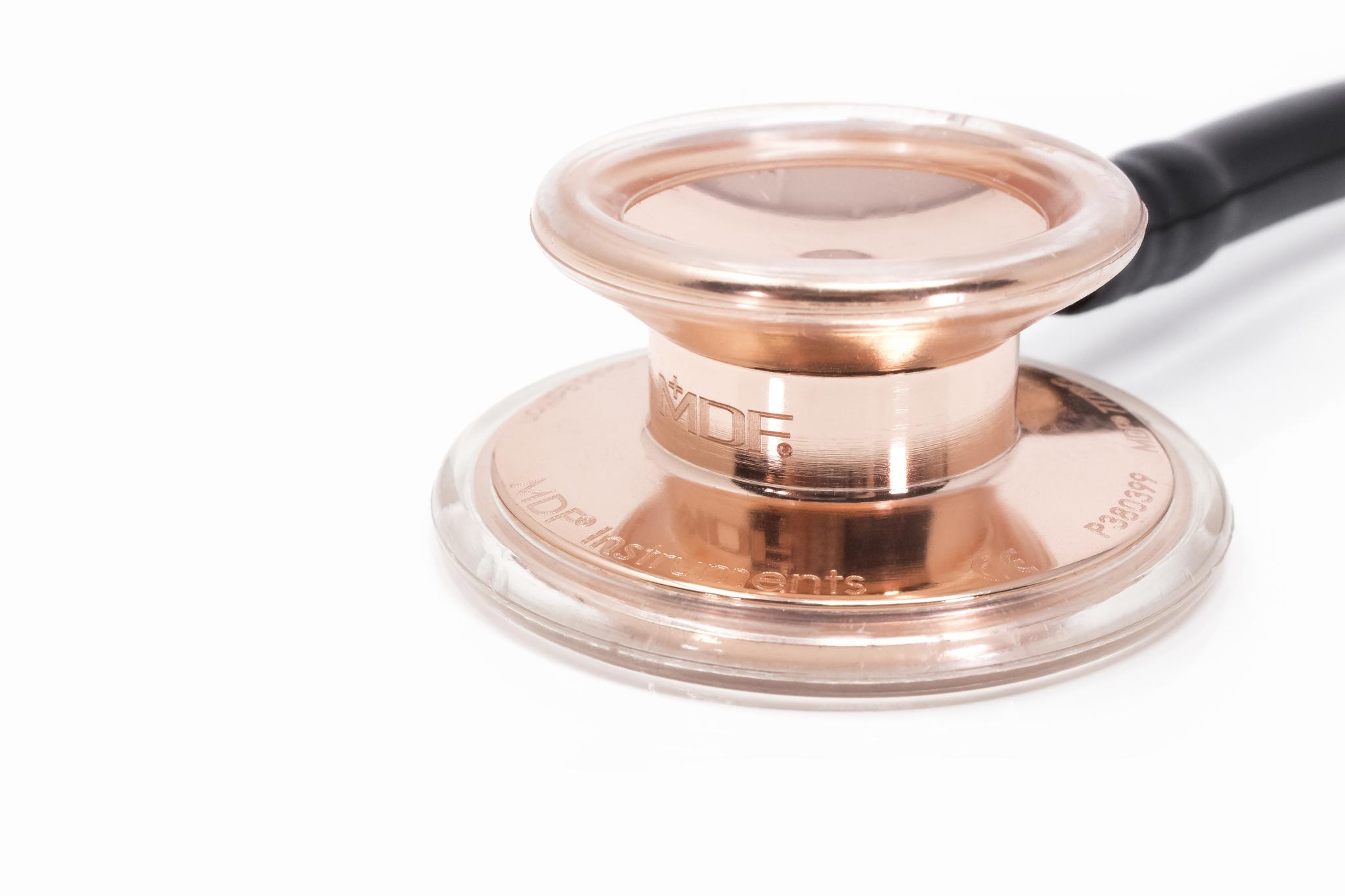 Фонендоскоп MD One (черный/розовое золото)
