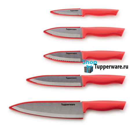 Ножи гурман 5шт в коралловом цвете
