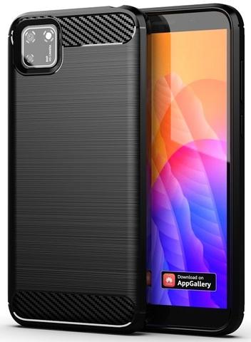 Чехол черного цвета для Huawei Y5P, серии Carbon от Caseport