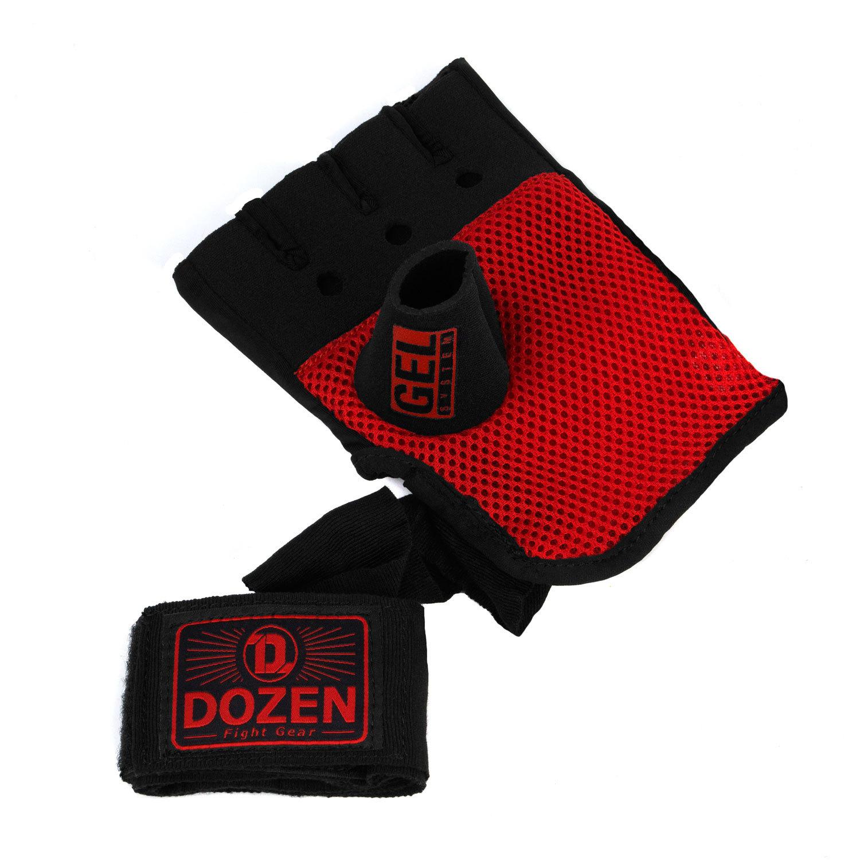 Быстрые бинты черно-красные Dozen Pro Gel-Air Inner дополнительный бинт